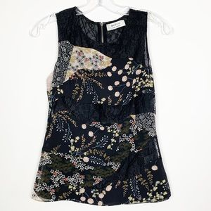Bailey 44 Bodnant Lace Sleeveless Floral Top
